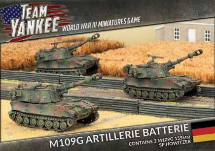 Flames Of War (Team Yankee): (German) M109G Panzerartillerie Batterie