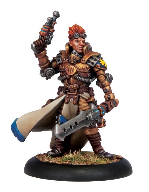 Warmachine: (Cygnar) Commander Coleman Stryker (metal resculpt)