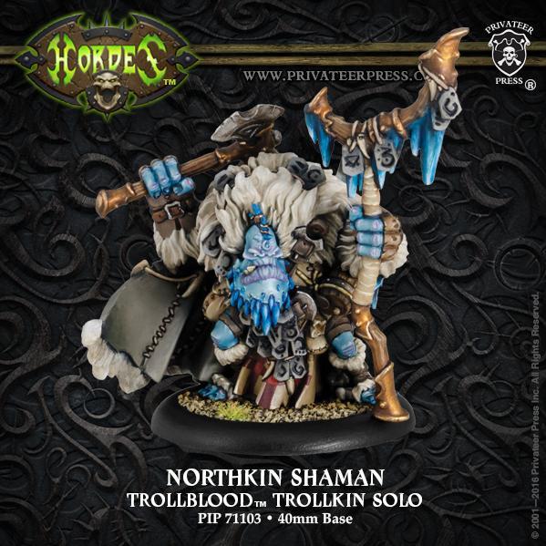 Hordes: (Trollbloods) Northkin Shaman (resin/metal)
