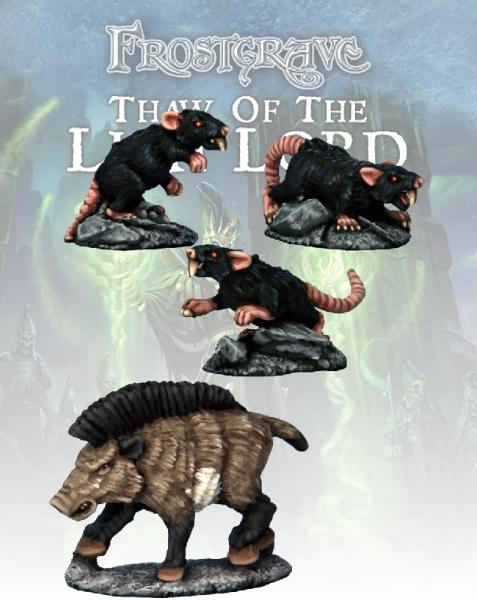 Frostgrave: Boar & Giant Rats