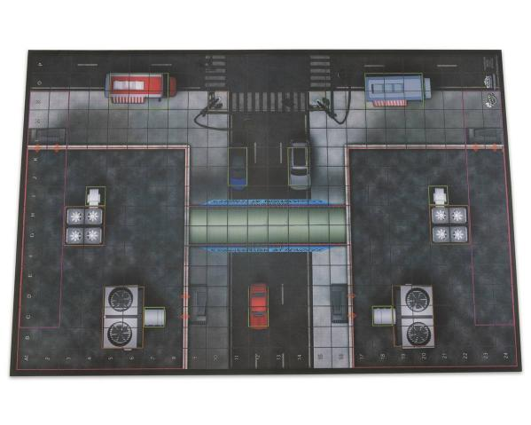 HeroClix: 2016 Collector's Premium Map - Center Plaza