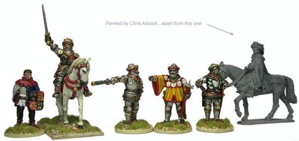 28mm Hundred Years War: (British) Henry V (Mounted) & Command