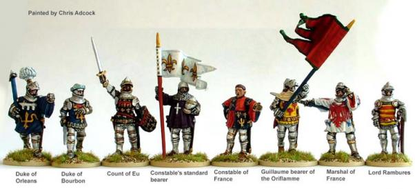 28mm Hundred Years War: (French) Agincourt High Command (Foot)
