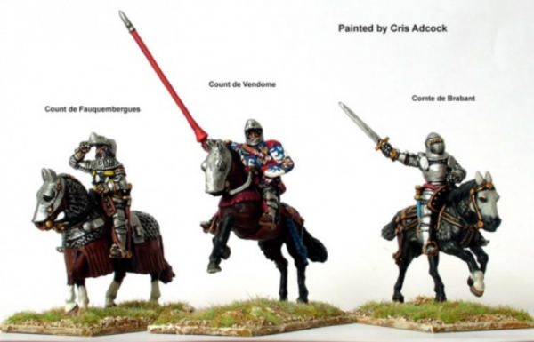 28mm Hundred Years War: (French) Agincourt Mounted Command
