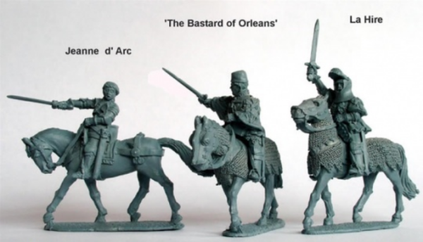 28mm Hundred Years War: (French) Jeanne d'Arc, La Hire, 'Bastard Of Orleans' (Mounted)