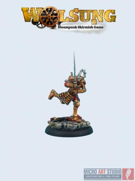 Wolsung Steampunk Miniatures: (Triad Of Lotus Dragon) Samurai (1)