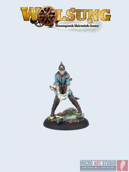 Wolsung Steampunk Miniatures: (Ven Rier Agents) Zombie Soldier v.2 (1)