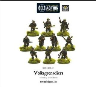 Bolt Action: (German) Volksgrenadiers (10)