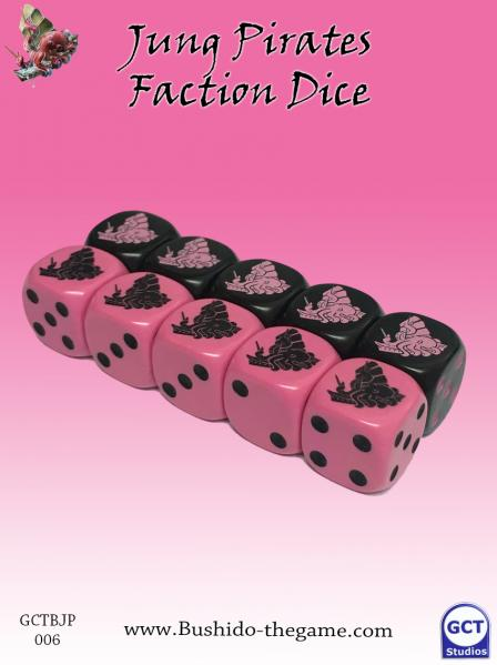 Bushido Miniatures: (Jung Pirates) Faction Dice