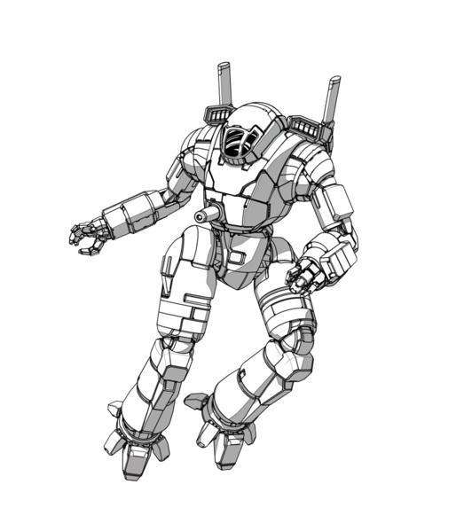 BattleTech Miniatures: OTT-7J Ostscout Mech (Combat Manual Mercs)