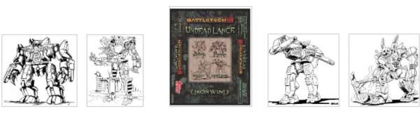 BattleTech Miniatures: Undead Lance Pack (TRO 3145/3150)