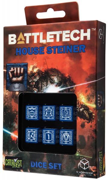 Battletech Dice: House Steiner Dice Set (6)