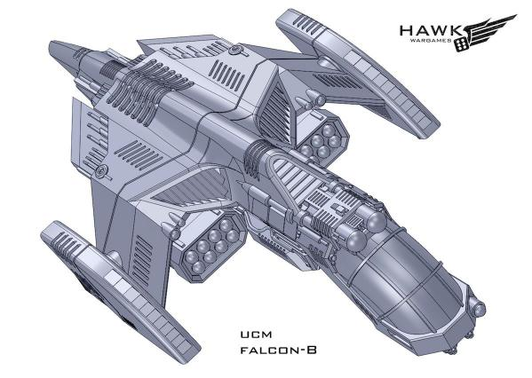 Dropzone Commander: (United Colonies Of Mankind) Falcon B (Falcon Variant)