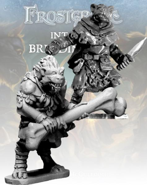 Frostgrave: Gnoll Thief & Barbarian