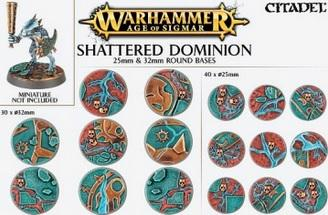 Age of Sigmar: SHATTERED DOMINION 25 & 32MM ROUND BASE