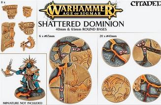 Age of Sigmar: SHATTERED DOMINION 40 & 65MM ROUND BASE