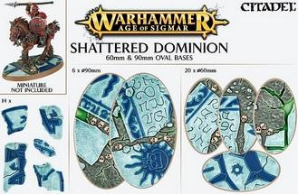 Age of Sigmar: SHATTERED DOMINION 60 & 90MM OVAL BASE