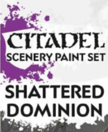 Supplies And Tools: SHATTERED DOMINION PAINT SET
