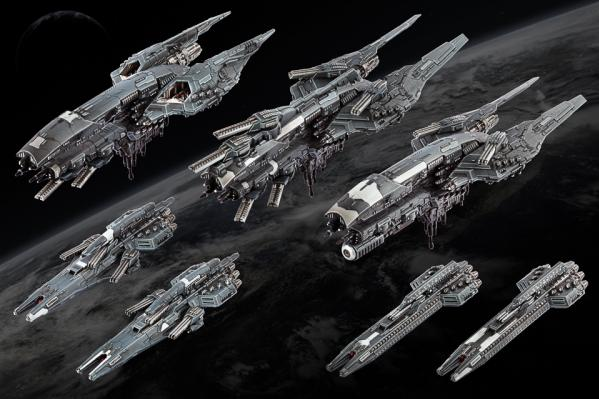Dropfleet Commander: (United Colonies Of Mankind) Starter Fleet