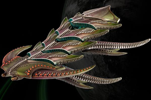Dropfleet Commander: (The Scourge) Daemon/Dragon Battleship