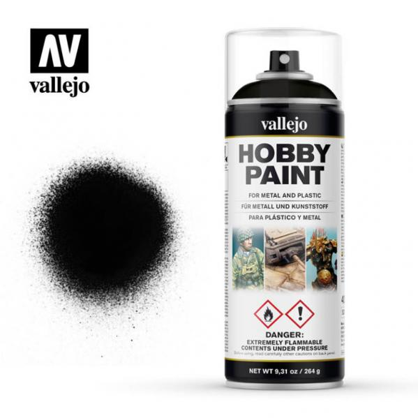 Vallejo: Black Spray Primer (400ml Can)