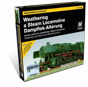 Weathering A Steam Locomotive Paint Set