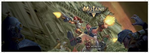 Mutant Chronicles RPG: Mutant Chronicles GM Screen (4-Panel)