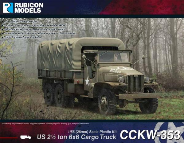 28mm WWII: (USA)  CCKW 353 2.5 ton 6x6 Truck (GMC)