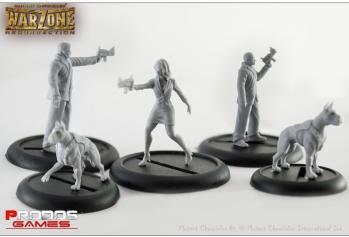 Mutant Chronicles RPG: (Capitol) Corporate Agents Miniatures Set