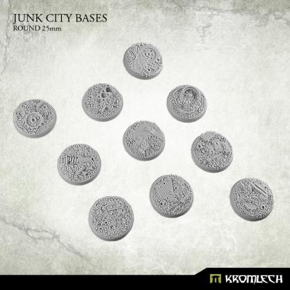 Kromlech Bases: 25mm Junk City, Round (10)