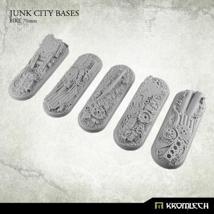 Kromlech Bases: 70x25mm Junk City (Bike) (5)