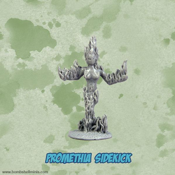 Bombshell Miniatures: Sidekicks - Promethia, Fire Elemental