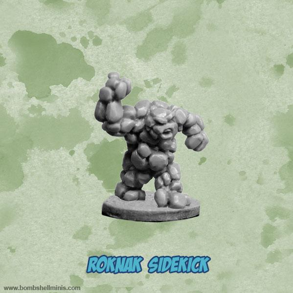 Bombshell Miniatures: Sidekicks - Roknak, Earth Elemental