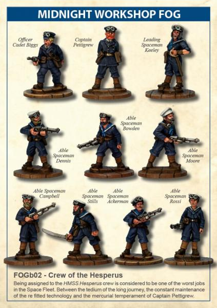 28mm Midnight Workshop Fog: Crew Of The Hesperus Set (10)