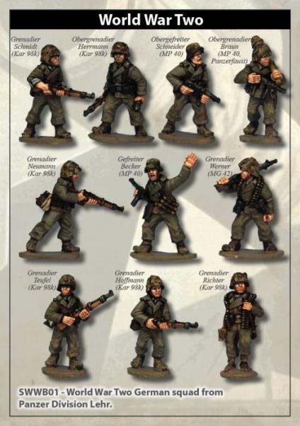 28mm World War II: (German) Panzer Lehr Grenadier Squad (10)