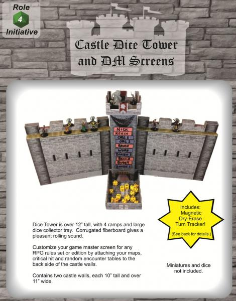 Castle Keep Dice Tower & DM Screen Combo