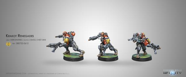 Infinity (#612) Mercenaries: Krakot Renegades