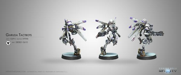 Infinity (#610) ALEPH: Garuda Tactbots (Spitfire)
