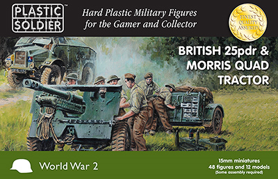 15mm WWII: (British) 25pdr & Morris Quad Tractor