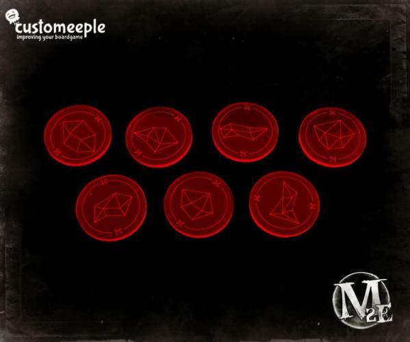Malifaux: Soulstone Markers Magenta Fluor (7)