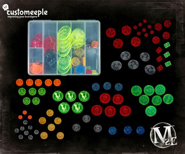 Malifaux: (The Resurrectionists) Token Set (81 pcs)