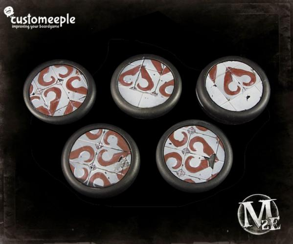 Malifaux: (Base Tops) 30mm The Guild (5)
