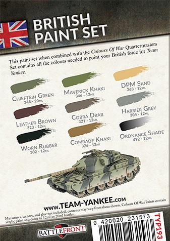 Flames Of War (Team Yankee): (British) Paint Set