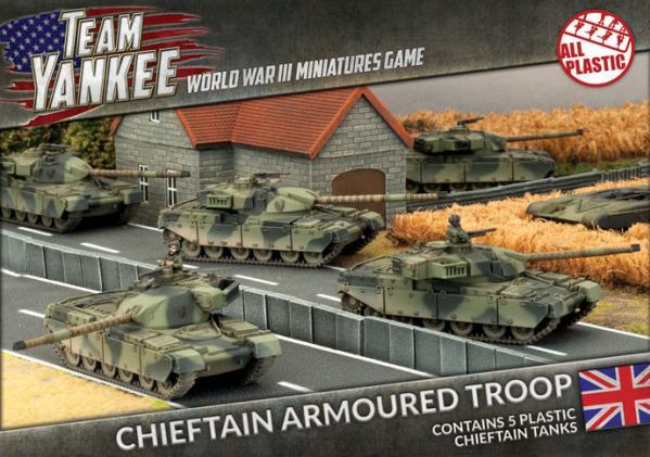 Team Yankee: (British) Chieftan Armoured Troop (Plastic)