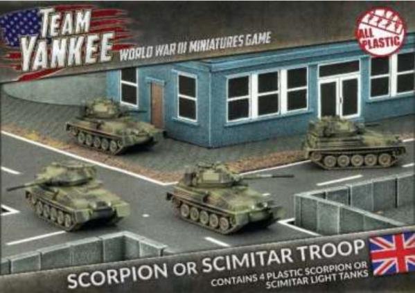 Flames Of War (Team Yankee): (British) Scorpion/Scimitar Platoon (Plastic)