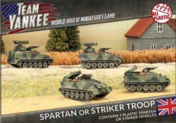 Flames Of War (Team Yankee): (British) Spartan/Striker Platoon (Plastic)