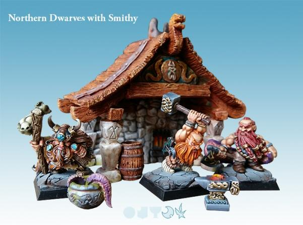 28mm Fantasy: Northern Dwarves with Smithy