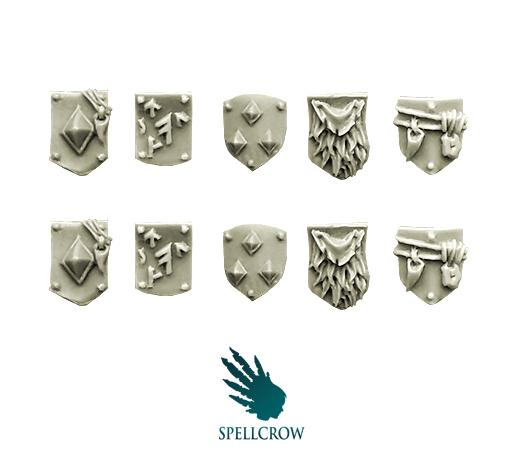 (Space Knights) Small Shields (Heavy Armour Wolves)