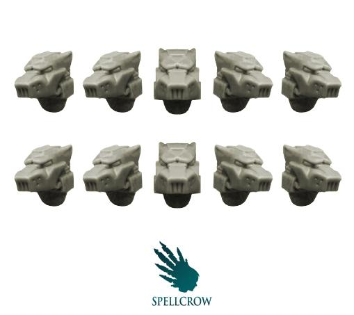 28mm Sci-Fi: (Space Knights) Wolves Helmets
