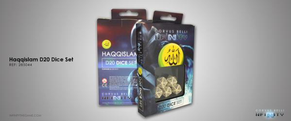 Infinity Accessories: Haqqislam D20 Dice Set